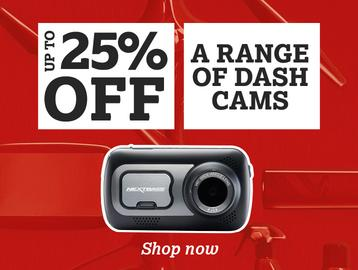 Up To 25% Off a Range of Dash Cams